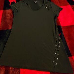 Black Shirt with Braiding Details